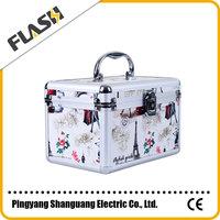 Wholesales artist pattern professinal aluminum cosmetic case