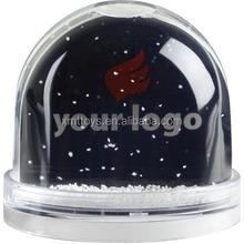 Plastic snow globe/Plastic water globe/Plastic snowball with photo insert