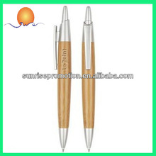 Plastic Printed Recycle Bamboo Logo Pen
