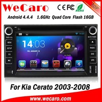 Wecaro Android 4.4.4 HD Touch screen for Kia Cerato car audio dvd player andriod multimedia wifi 3G GPS Naivigation 2003-2008