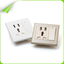 2015 new 100% real material and hot 2 wall usb socket for phone /psp/camera/mp3