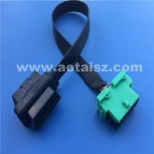16pin ribbon female to male obd2 wire for Citroen