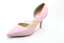 2015 Fashion Pointed Toe Leather shoes/ Mid-heel Pumps /Lady Luxury High Heel Shoes Pumps YJ150528-05