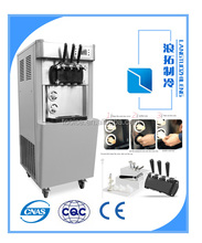 auto refrigerated ice cream maker 3 flavors commercial soft ice cream machine 32L capacity