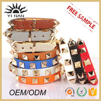 Latest Designer Gold Jewelry Bangles Mens Leather Bracelets Clasp Crafted Adjustable