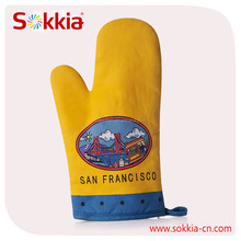 Hotselling American market San francisco design heavy cotton oven mitten glove