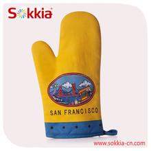 Hotselling American market San francisco design heavy cotton oven mitten glove