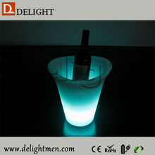 Low price rechargeable light up color chang hot beer ice cooler for outdoor event