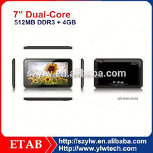 7 Inch A23 Dual core 1024*600 screen mobile phone and tablet pc perfect combination
