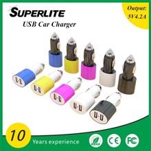 Dual Port USB Adapter/Car Charger - For Samsung Galaxy Tab 1 2 & S3 Mini i8190
