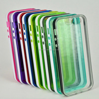 thin gel back case cover white bumper line TPU frosted rubber case for iphone5C