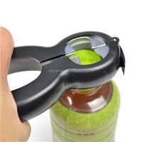 hot sales colorful multipurpose ABS and rubber six and one cast iron bottle opener