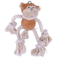 Hot selling Amazon dog squeak toy stuffed pluche monkey