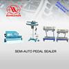 Semi-automatic pedal sealer