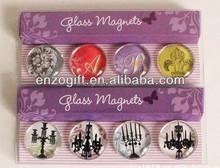 heart shape mini glass fridge magnet, glass dome magnets acrylic magnet for fridge