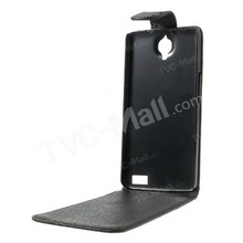 Vertical de la PU cubierta de cuero para Alcatel One touch Toch ídolo X
