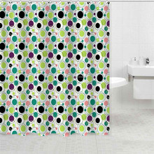 kids shower curtains polyester fabric painting design
