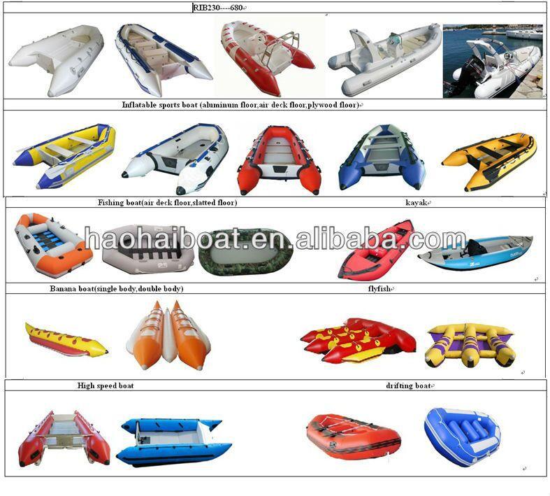 3.6m pvc aluminum floor inflatable boat