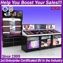 Cosmetic display pleciglass store showcase stands