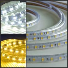 Smd5050 50m/Roll 110v 220v 60leds/m no power supply waterproof 0.5m cut flexible led strip 110volts rgb smd3528 led rope light