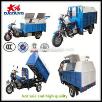 Africa market 150cc air cooling gasoline garbage 3 Wheeler with ccc in Kenya