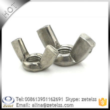 Din 315 China hight quality 201 din315 carbon steel wing\/butterfly nuts with round wings hdg grade 4.8-12.9 ,Non-standa