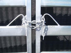 Cattle Yard Double entrance Gates joining system