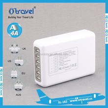 New Universal 6 Multi-Port Rapid charger USB Wall Travel Charger Auto Detect Technology