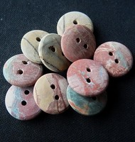 Fashion African Jade Buttons , Unpolihsed ,18X4 mm