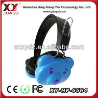 bear shaped super bass headphones for mp3 players