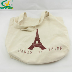 New product wholesale price custom printing blank canvas tote bag