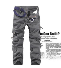 MS70049G Wholesale high qulity men's cargo pants with many side prokects men's casual pants