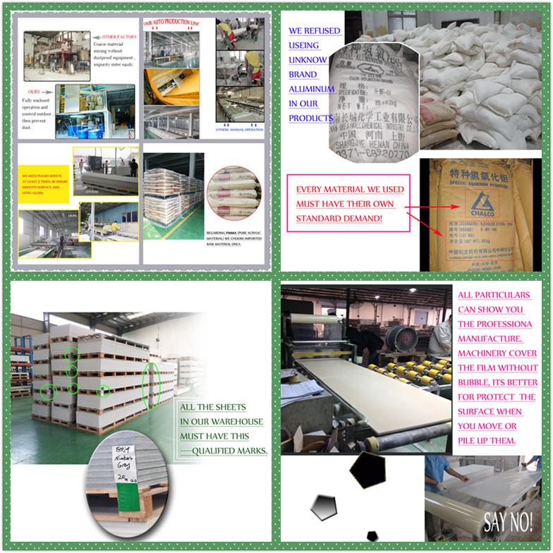 100% acrílico Piedra artificial, mármol artificial para la decoración de piedra casera