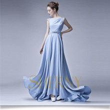 European fashion design real sample pictures new evening dresses