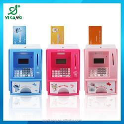 Detect coins value Plastic Money Save Box Mini atm machine toy atm bank