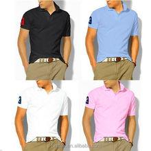 High quality cotton custom mens polo t shirt