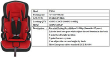 YY04A-02 good sales Baby children Car Seat ECE-R44/04 certificate 9-36kgs