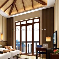 Heavy linen fireproof decorative curtain blinds C163