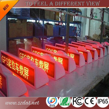 Easy to install!! Taxi top flexible sliding chute led display screen