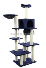 Anhui osa cat scracther tree with top bed and pet house