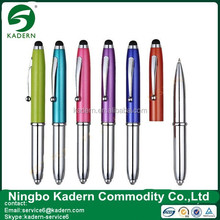 2015 The Most Popular Aluminium Led Stylus 3 In 1 Pen