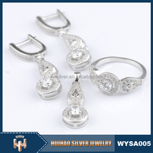 classic 925 sterling silver jewelry set micro pave CZ