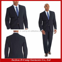 MBS-116 Regular fit 2 piece fine striped suit navy coat pant men suit