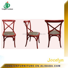 stackable cross back wood banquet chair Sales & Promotion/French X Cross Back Wood Chair With Rush Seat/Crossback Dining Chair