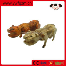 animal figurines wooden carved tigers
