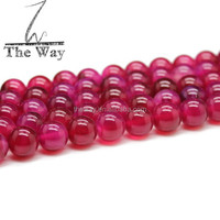 10mm Natural Clear Rose pink agate beads without band or stripe High quality agate beads