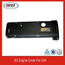 For BMW E46 M3 style engine cover E46 Carbon fiber engine cover
