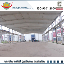 China C purlin steel building installation for pu house