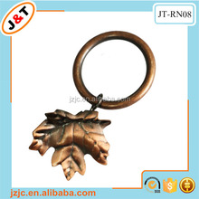 cheap beautiful 60mm curtain rings with a small leaf clip, shower curtain eyelet rings