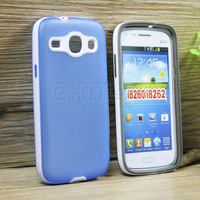 Hot selling nice color tpu cover with pc hard frame case for samsung galaxy core i8260 i8262 waterproof